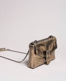 Rebel leather shoulder bag Gold Yellow Woman 191TO8641-01