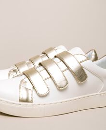 Sneakers in similpelle Avorio Donna 201LLPZAA-02