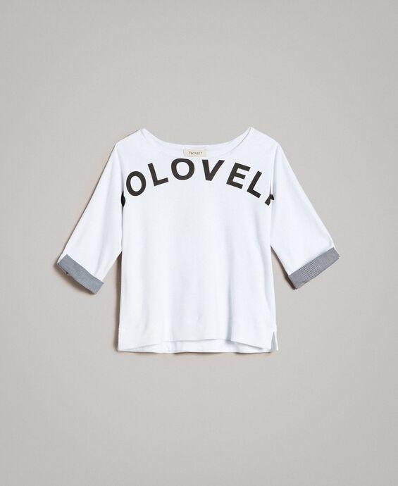 Sweat shirt au point de Milan avec détails en vichy