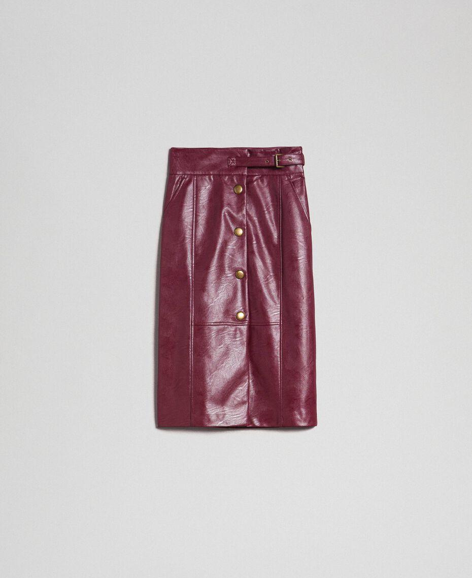 Faux leather midi skirt Red Velvet Woman 192TT203B-0S