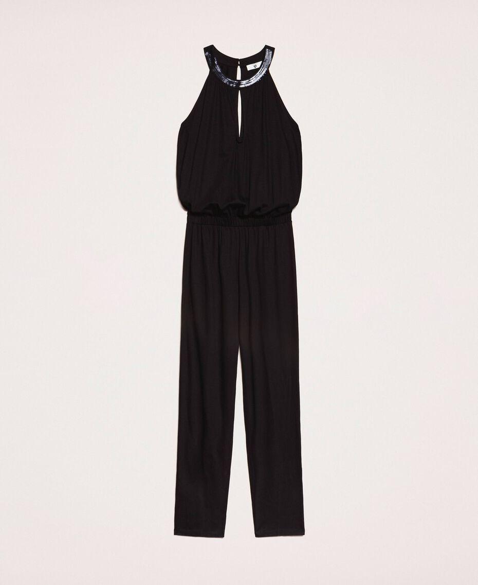 Jumpsuit with sequins Black Woman 201LB2CHH-0S