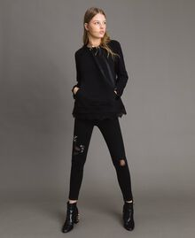 Sweatshirt with lace details Black Woman 191MP2324-0T