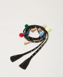 Cinturón con tachuelas y pendientes Negro Mujer 211TO5069-01