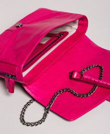 Rebel leather shoulder bag Fuxia Woman 191TO7233-05