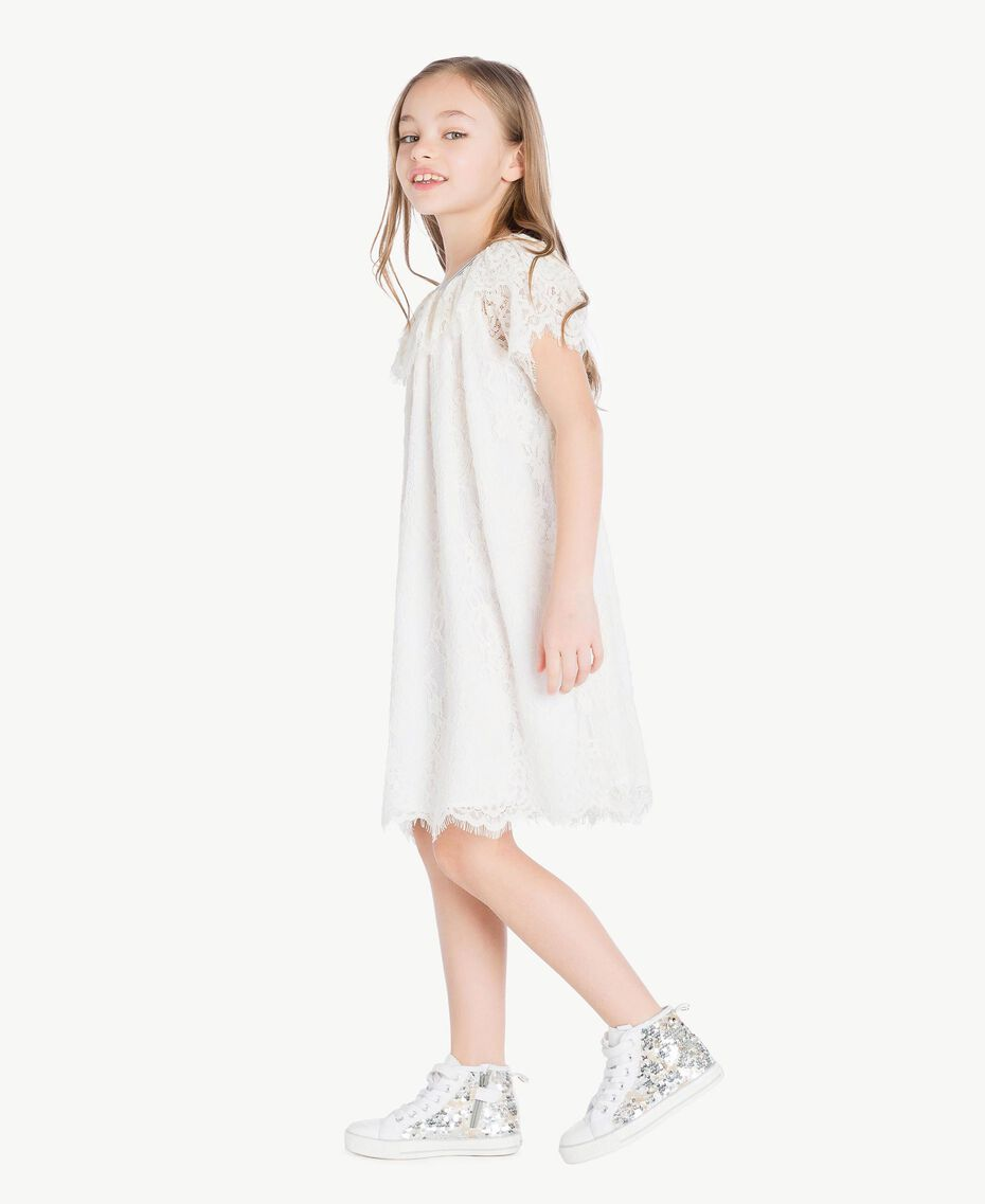 Lace dress Pale Cream Child GS82UQ-03