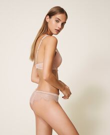Lace and tulle bralette Ivory Woman 202LI6133-02