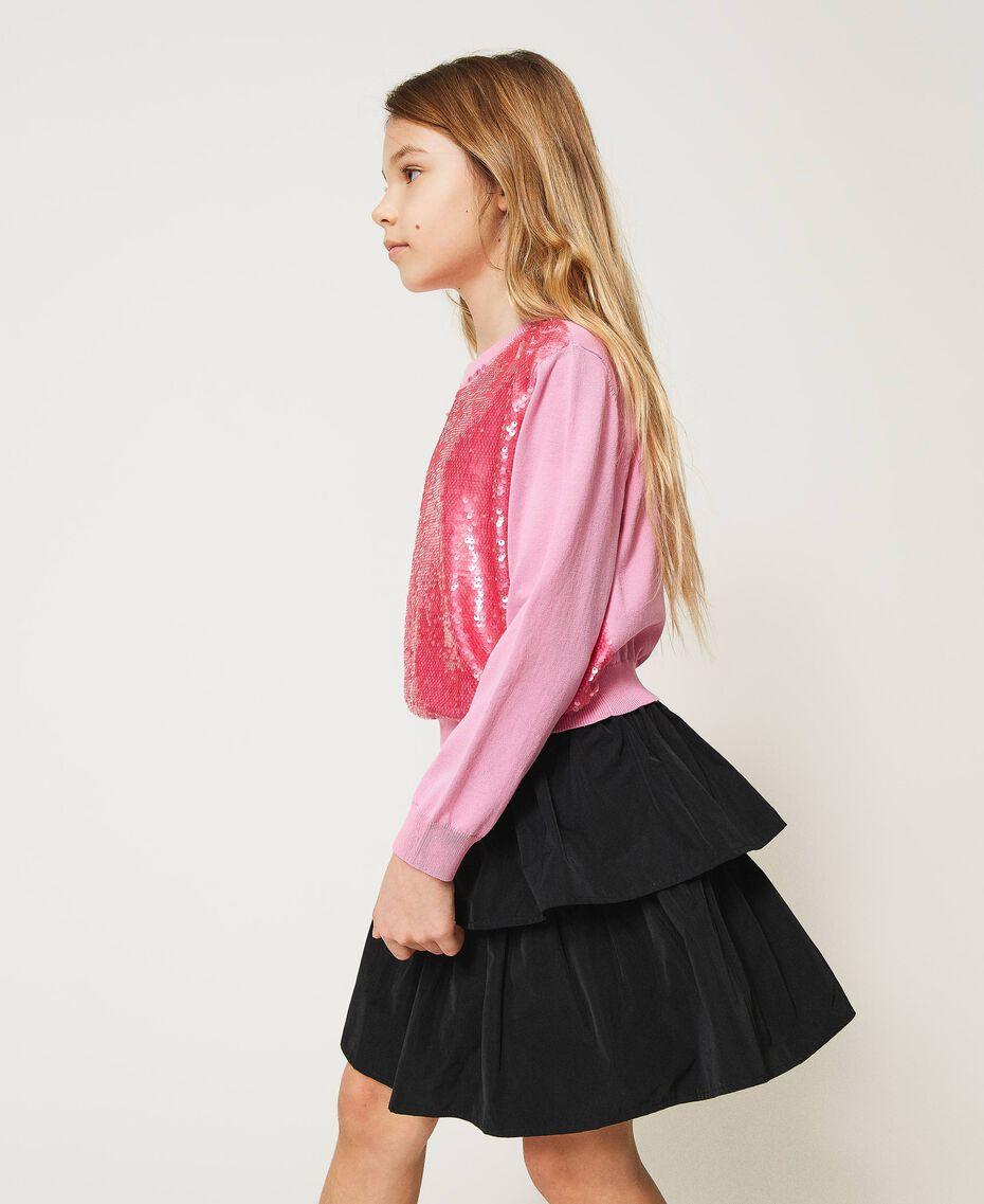 """Full sequin jumper """"Rose Bloom"""" Pink Child 211GJ3530-02"""