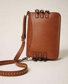 Shoulder bag with straps Leather Brown Woman 202MA7043-04