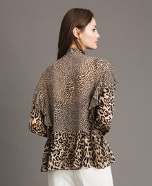 Блуза из жоржета с животным принтом Смешанный Принт С Животными женщина 191TP2721-03