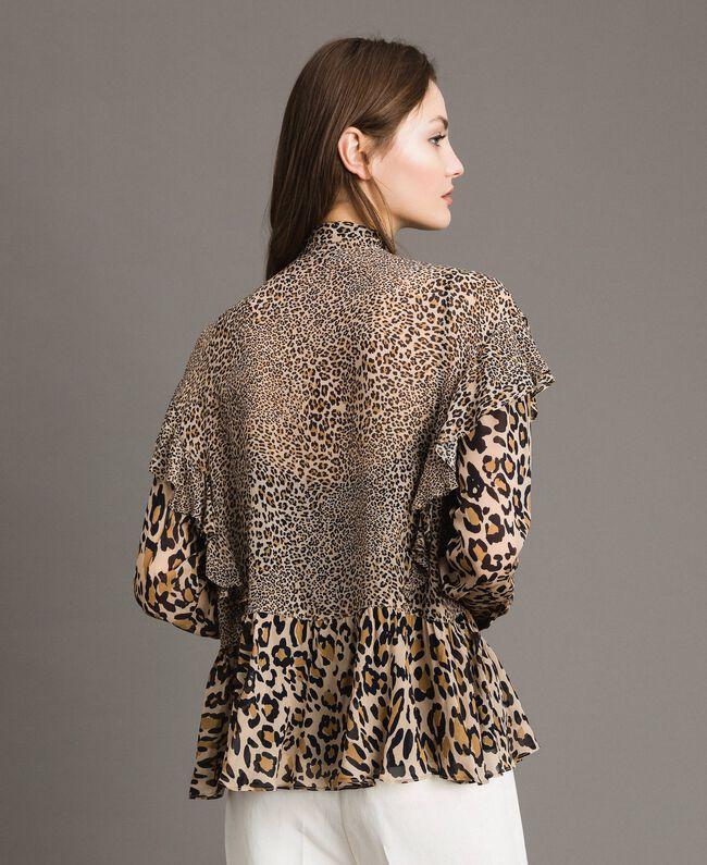 Animal print georgette blouse Mixed Animal Print Woman 191TP2721-03