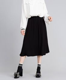 Georgette skirt Black Woman PA82HJ-02