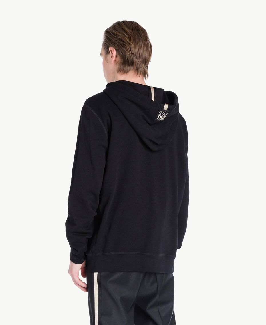 Logo sweatshirt Black Man US821R-03