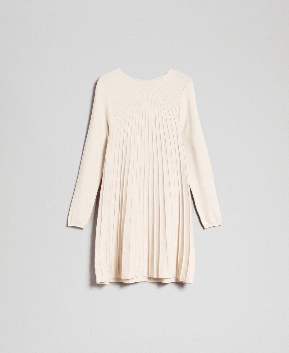Abito in maglia plissé Bianco Panna Donna 192ST3170-0S