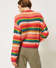 "Wool blend jumper with sequins Multistripe / ""Colour Sequins"" Woman 202MP3190-04"
