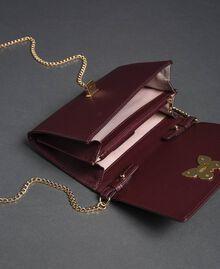 Petit sac à bandoulière avec fermoir papillon Rouge Betterave Femme 192TA7022-04