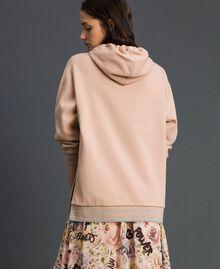 Lurex stripe hoodie Beige Nude Woman 192LI2GAA-03