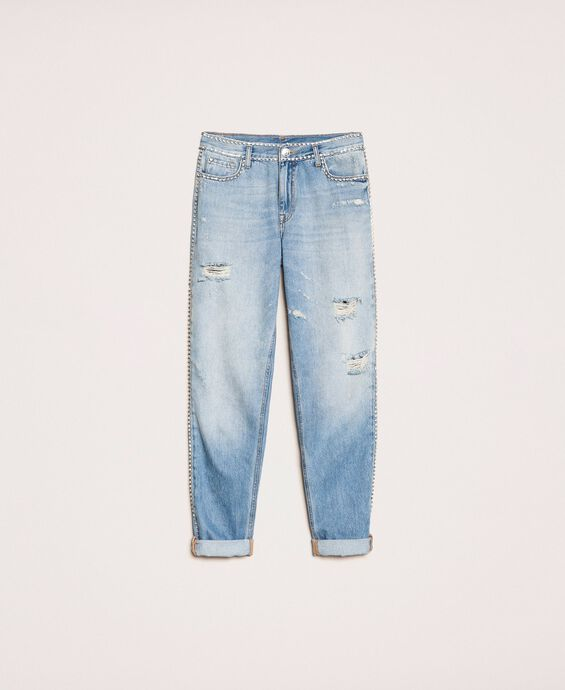 Rhinestone Girlfriend jeans
