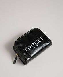 Große Kosmetiktasche aus glänzendem Lederimitat Schwarz Frau 192TA7175-01