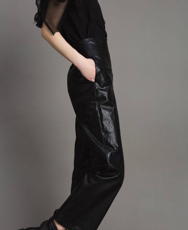 Pantaloni in similpelle Nero Donna 191TP2550-03