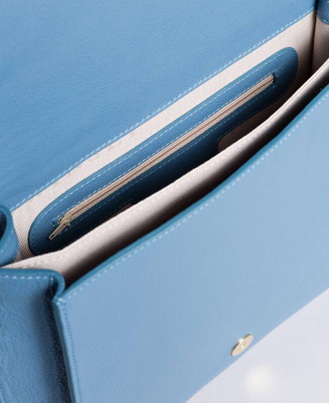 Tracolla grande in pelle Azzurro Infinito Donna AA8PGC-04