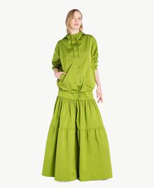 "Technical fabric skirt ""Lime"" Green Woman PS82J8-05"
