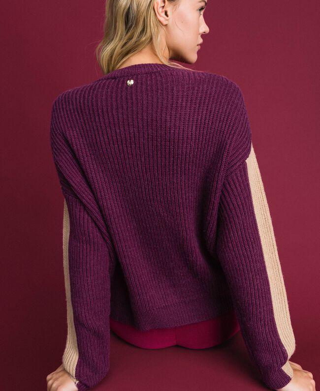 Pull en mélange de laine et alpaga Rose «Rose Brillant» Femme 192MT3074-03