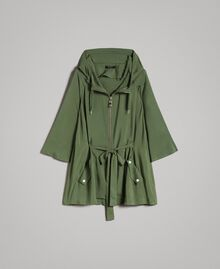 "Hooded cape ""Cactus"" Green Woman 191MT2311-0S"