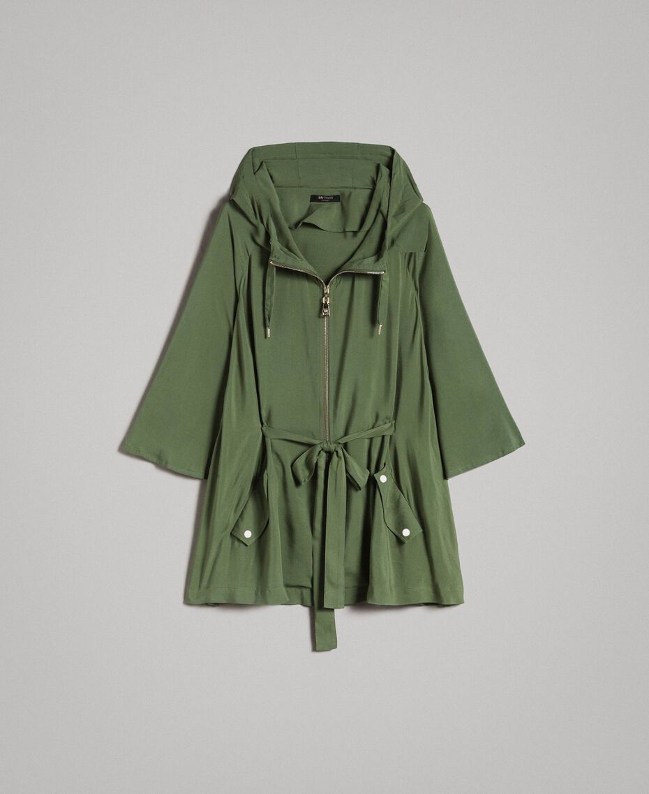 "Cape avec capuche Vert ""Cactus"" Femme 191MT2311-0S"