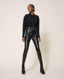 Bottines à plateforme en cuir Noir Femme 202TCP152-0T