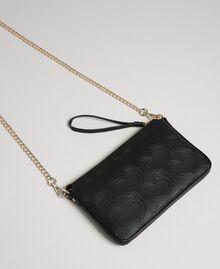 Heart print shoulder bag Black Woman 192MA7014-03