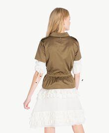 Drawstring shirt Army Green Woman JS82QN-03