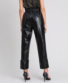 Pantaloni in similpelle Nero Donna 192TP2060-03