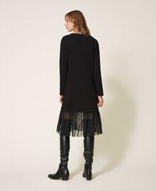 Long dress with tulle Black Woman 202LI2NLL-03