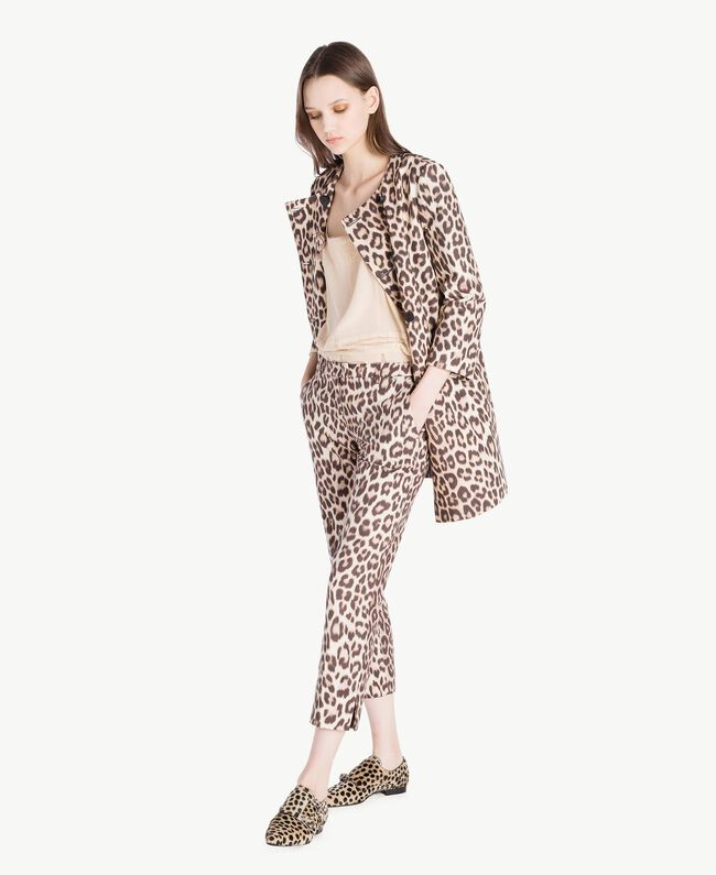 "TWINSET Animal print moccasins ""Ponyskin"" Animal Print Woman CS8PE3-05"