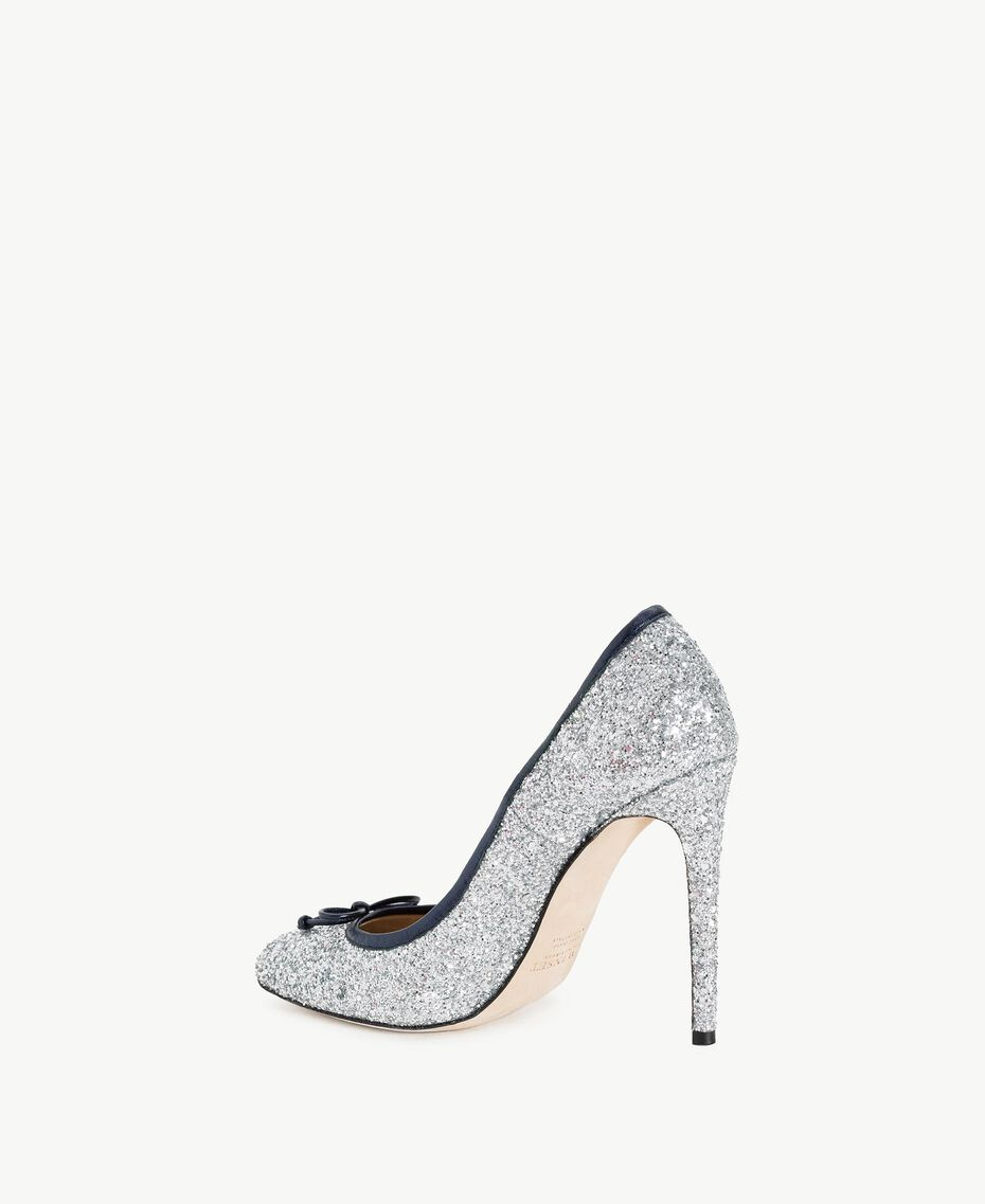 TWINSET Glitter court shoes Silver Woman CS8PLE-03