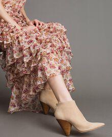 """Robe longue en georgette à imprimé floral Imprimé Bouquet Rose """"Bouton De Rose"""" Femme 191TP2574-06"""