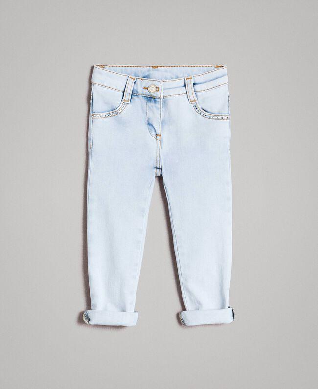 Rhinestone skinny jeans Bleach Denim Child 191GB2472-01