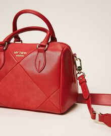 Faux leather bowler bag Cherry Red Woman 202MA7022-02