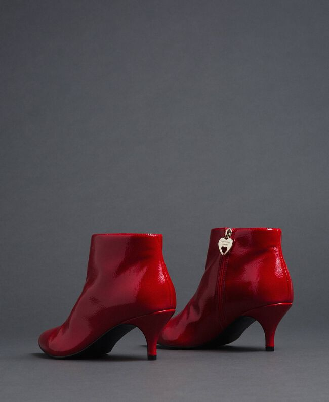 Patent leather ankle boots Poppy Red Woman 192MCT052-04