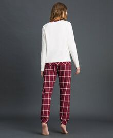 'Tury x Twinset' printed pyjamas White / Checks Woman 192LL21AA-03