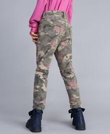 Printed canvas cargo trousers Camouflage Print Child GA82EB-0S
