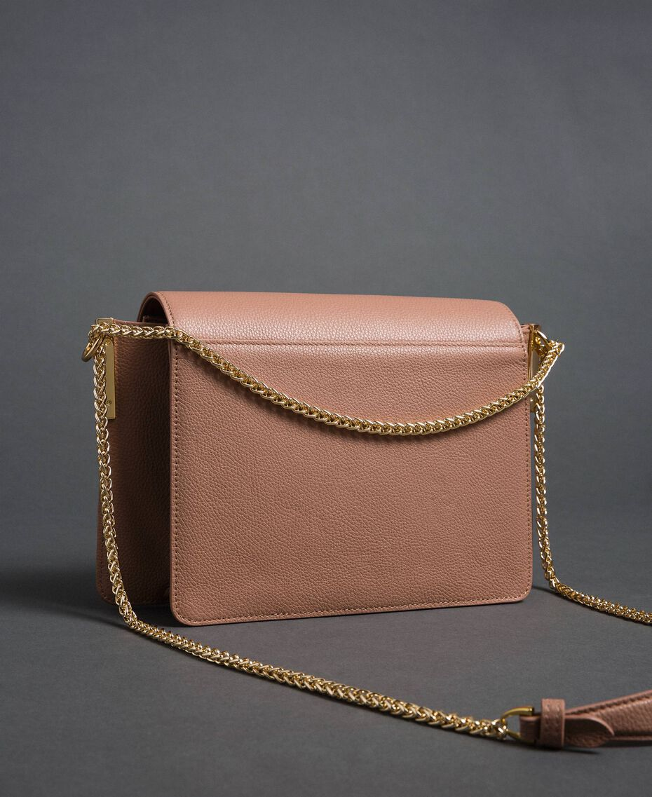 Large Bea leather shoulder bag Mousse Pink Woman 192TA7020-03