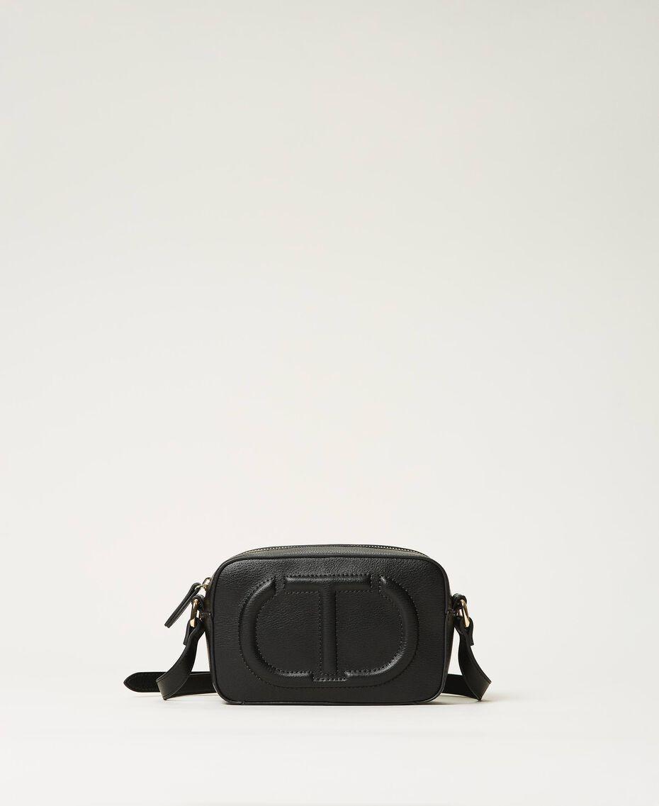 Shoulder bag with logo Black Woman 211TD8081-01