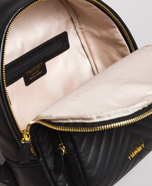 Matelassé leather backpack Black Woman 191TA7192-05