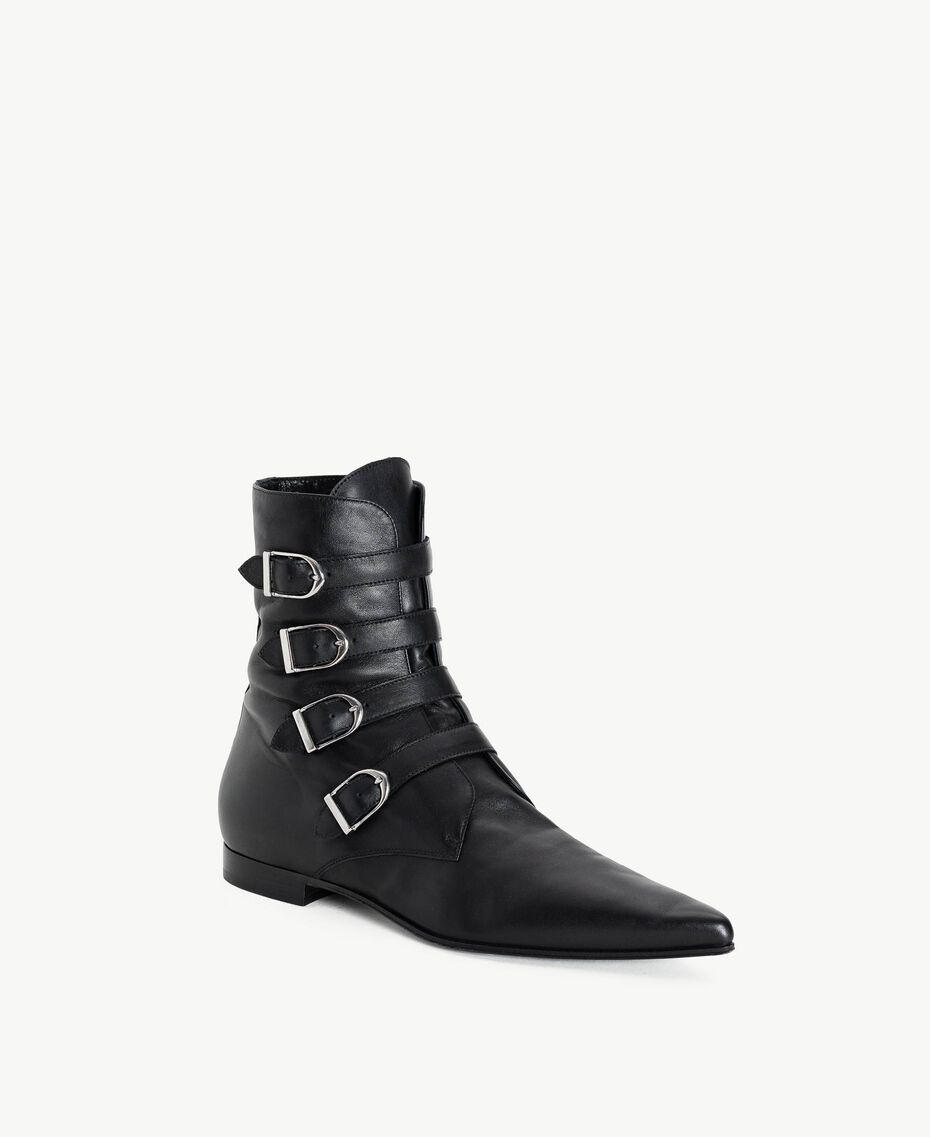 TWINSET Buckle ankle boots Black Woman CS8PE1-02