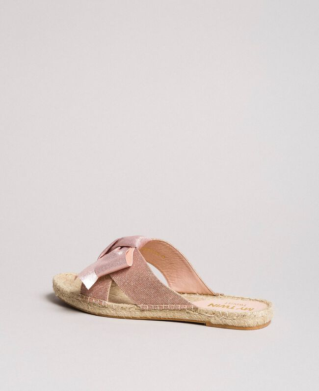Criss-crossed slippers with bow Powder Woman 191MCP150-04