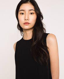 Платье с жоржетом и кружевом шантильи Черный женщина 201MP235B-03
