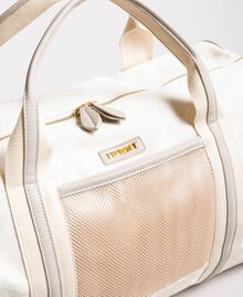 "Canvas and mesh travel bag ""Milkway"" Beige Woman 191LL49DD-02"