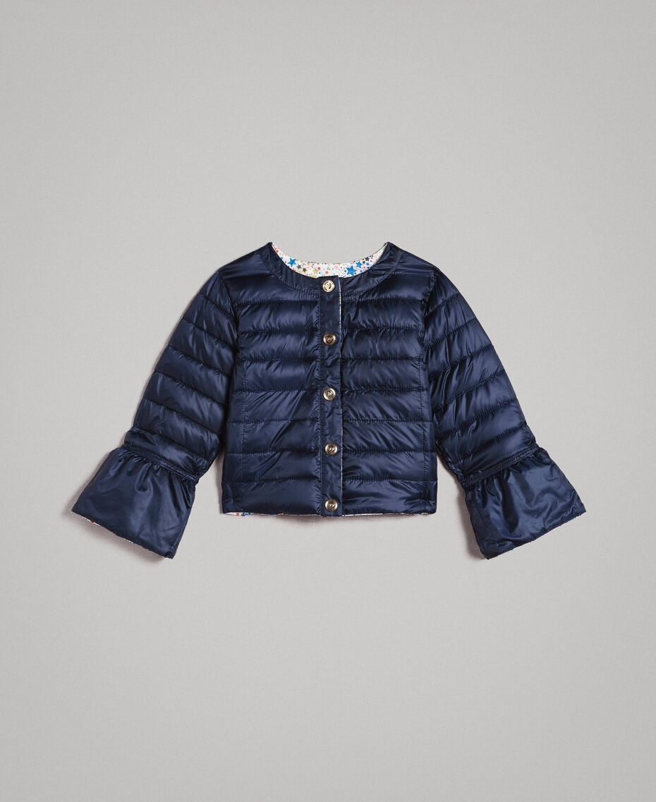 Ultra lightweight reversible puffer jacket Two-tone Indigo / Star Print Child 191GB2170-03