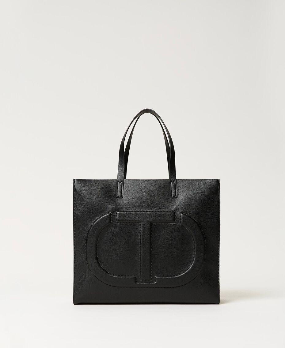 Twinset Bag im Shopperformat mit Logo Schwarz Frau 211TD8080-01